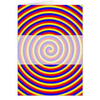 Cartes Couleurs primaires. Spirale lumineuse et colorée