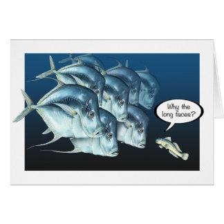 Cartes Coup manqué de poissons vers le bas que vous