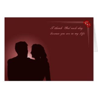 Cartes Couples dans l'amour. Merlot