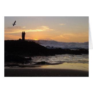 Cartes Couples de coucher du soleil