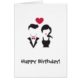 Cartes Couples de silhouette