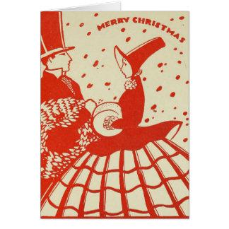 Cartes Couples vintages de Noël