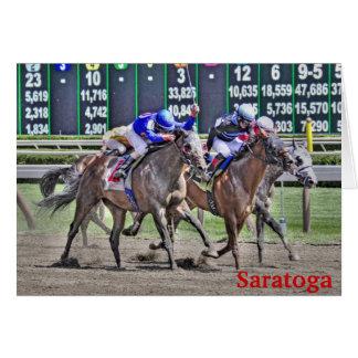 Cartes Course de chevaux de Saratoga