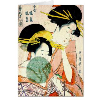 Cartes Courtisanes Hinatsuru et Hinamatsu 1798