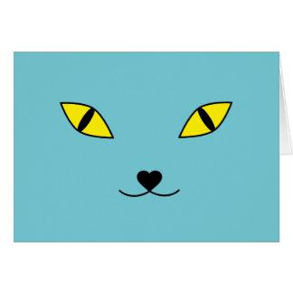 Cartes Coussin heureux de visage de chat