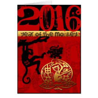 Cartes Coutume 2016 ans année chinoise de singe de la