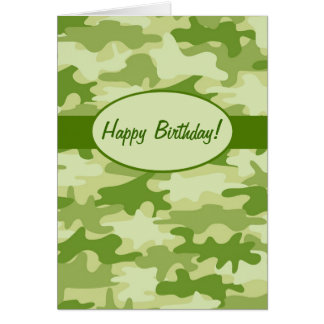 Cartes Coutume de joyeux anniversaire de camouflage de