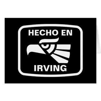 Cartes Coutume de personalizado d'en Irving de Hecho