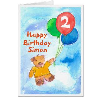 Cartes Coutume heureuse d'anniversaire d'ours de nounours