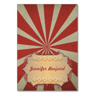 Cartes couvertes d'endroit de cirque de carnaval -
