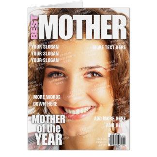 Cartes Couverture de magazine personnalisée par mère