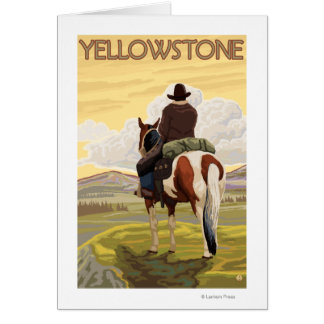Cartes Cowboy et cheval - parc national de Yellowstone