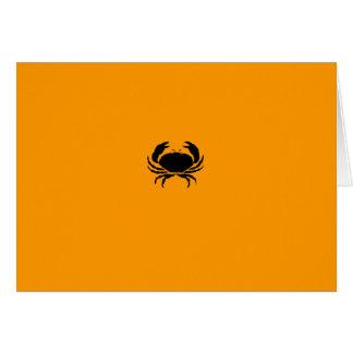 Cartes Crabe de Glow_Black-on-Orange d'océan