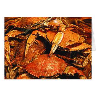 Cartes Crabes durs cuits à la vapeur du Maryland