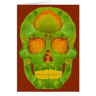 Cartes Crâne 10 de feuille d'Aspen