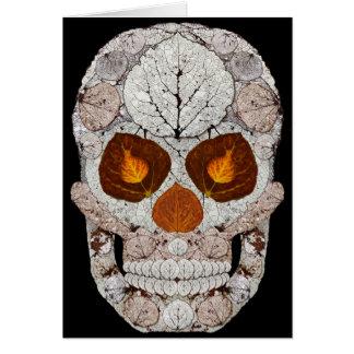 Cartes Crâne 11 de feuille d'Aspen
