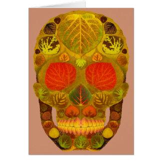 Cartes Crâne 12 de feuille d'Aspen
