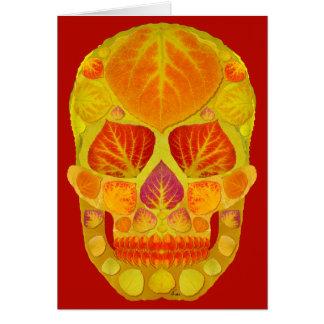 Cartes Crâne 13 de feuille d'Aspen