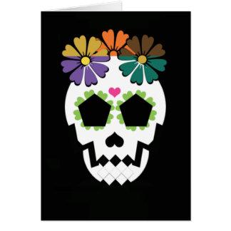 Cartes Crâne avec des fleurs