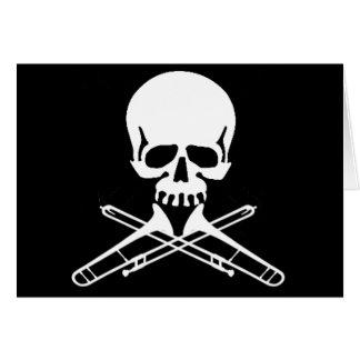 Cartes Crâne avec des trombones comme os croisés