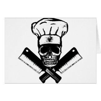 Cartes Crâne de chef (B&W)