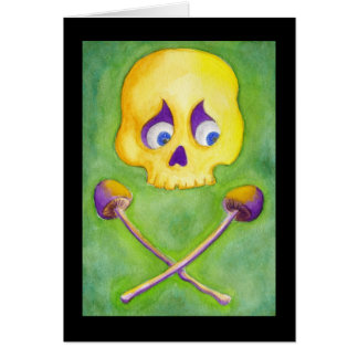 Cartes Crâne et champignons