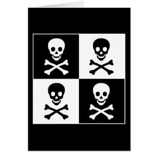 Cartes Crâne et os croisés