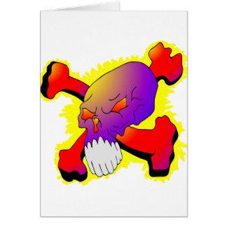 Cartes Crâne et tatouage d'os croisés
