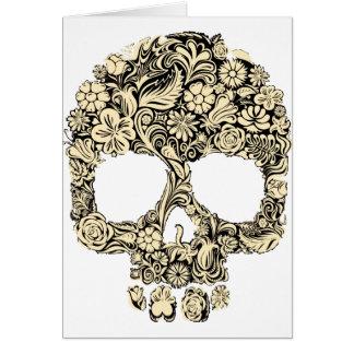 Cartes Crâne fleuri fleuri