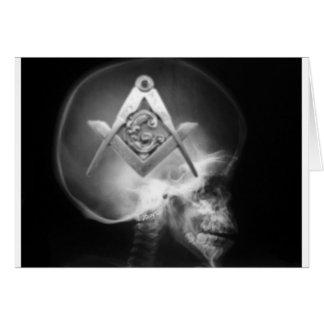 Cartes Crâne maçonnique d'alien de rayon X