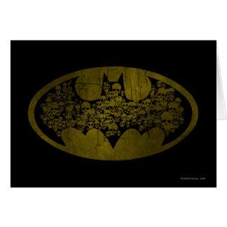 Cartes Crânes du symbole | de Batman dans le logo de