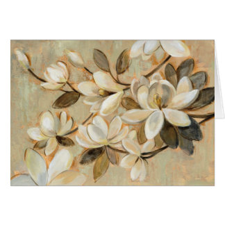 Cartes Crème de simplicité de magnolia
