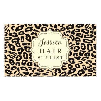 Cartes crèmes de rendez-vous de coiffeur carte de visite standard