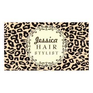 Cartes crèmes de rendez-vous de coiffeur d'emprein modèle de carte de visite