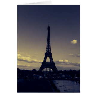 Cartes Crépuscule dans la ville des lumières