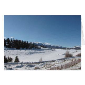 Cartes Crêtes couronnées de neige