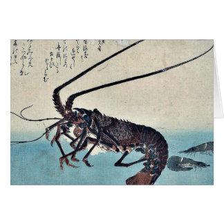 Cartes Crevette et homard par Ando, Hiroshige Ukiyoe