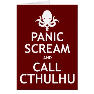 Cartes Cri perçant et appel Cthulhu de panique