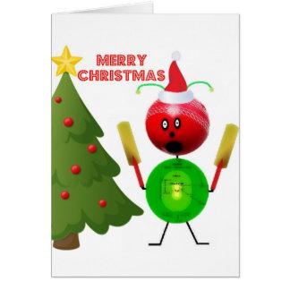Cartes Cricket de Joyeux Noël