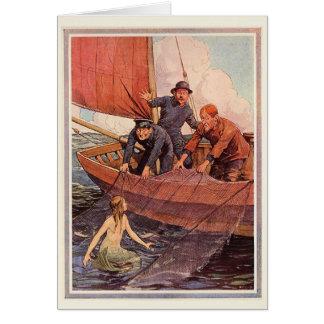 Cartes Crochet vintage de sirène de marins