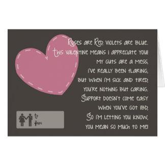 Cartes Crohn et colite Valentine - travailleurs sociaux