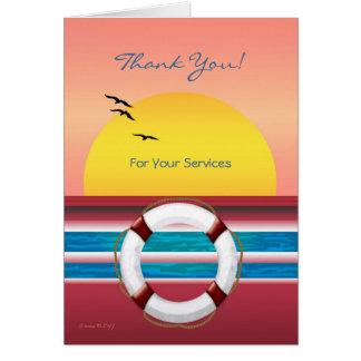 Cartes Croisière - Merci pour vos services - emboutage