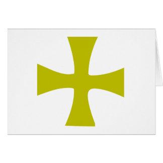 Cartes Croix bizantine d'or
