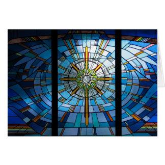Cartes Croix en verre souillé, intérieur vide