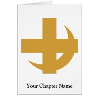 Cartes Croix et croissant de Chi de lambda alpha