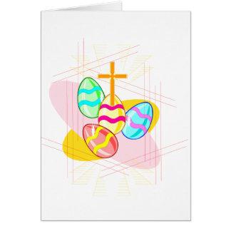 Cartes Croix et oeufs de pâques