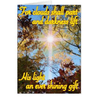 Cartes Croix légère - soleil au delà des jours orageux