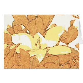 Cartes Croquis de Digitals de magnolia