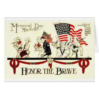 Cartes Cru affiche de 1917 Jours du Souvenir