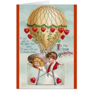 Cartes Cru chaud Valentine de ballon à air